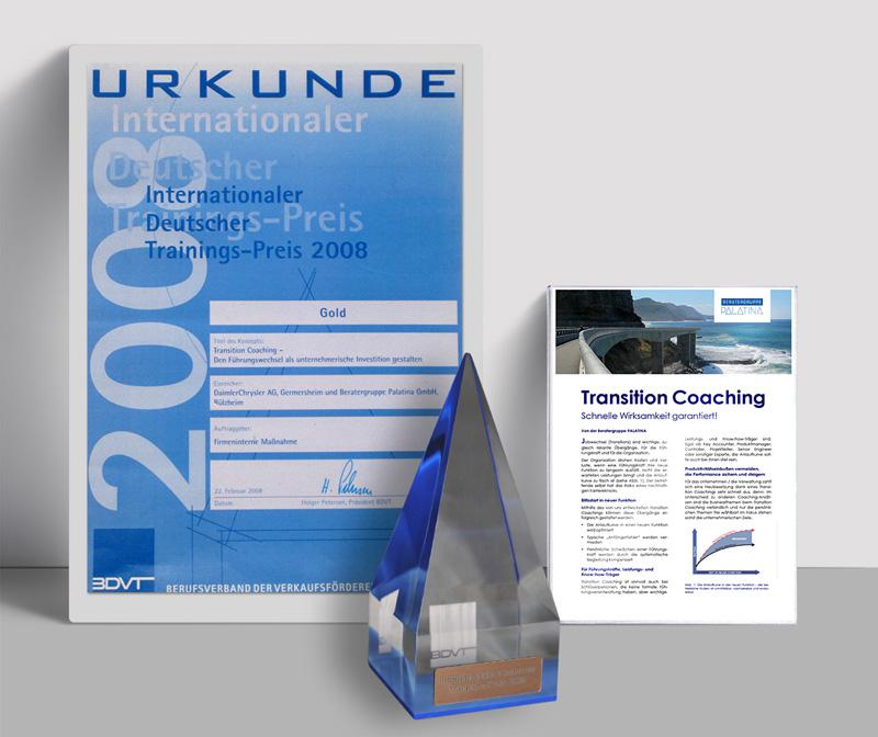 Internationaler Deutscher Trainingspreis 2008: Auszeichnung in Gold