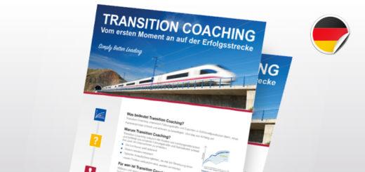 Flyer TRANSITION COACHING | Vom ersten Moment an auf der Erfolgsstrecke